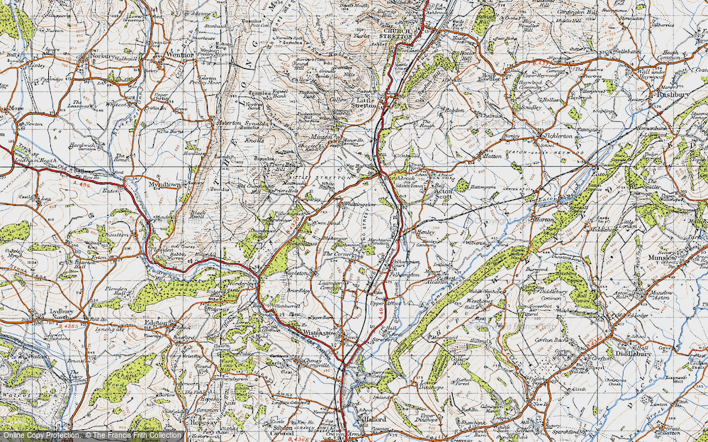 Old Map of Whittingslow, 1947 in 1947