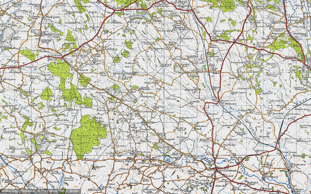 Old Map of Whittington, 1946 in 1946