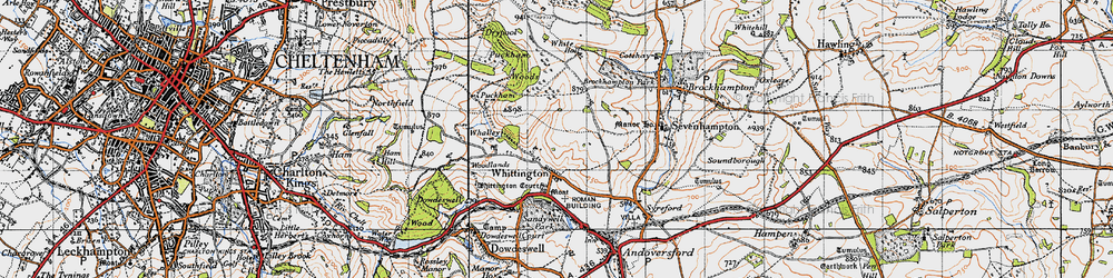 Old map of Whittington Court in 1946