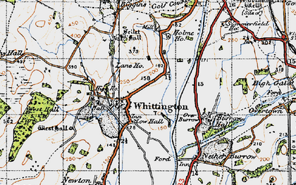 Old map of Whittington in 1947