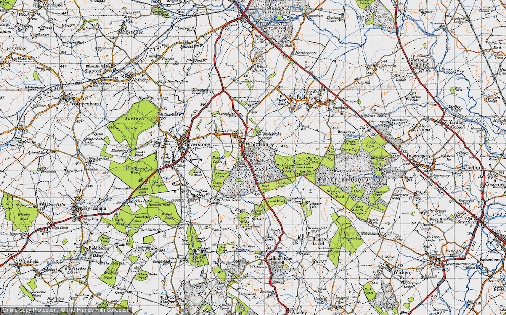 Old Map of Whittlebury, 1946 in 1946