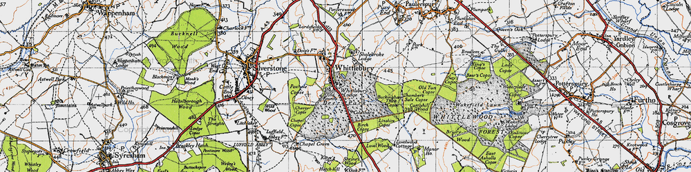 Old map of Whittlebury in 1946