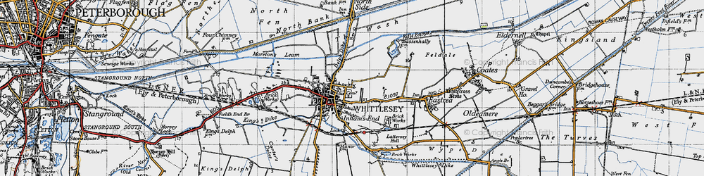 Old map of Whittlesey in 1946