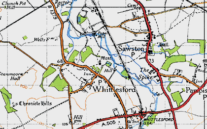Old map of Whittlesford in 1946