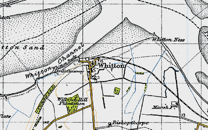 Old map of Whitton Ness in 1947