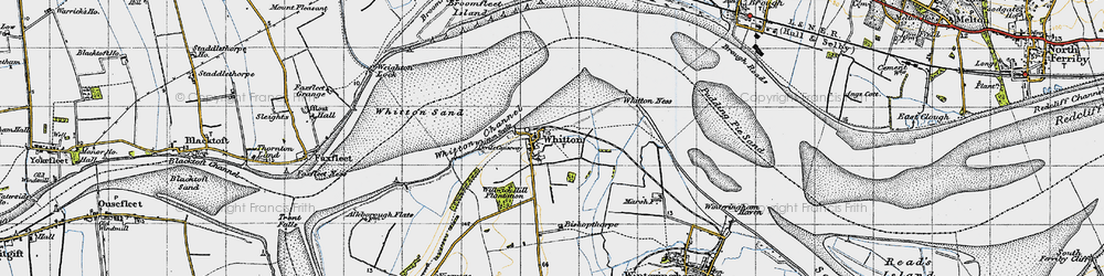 Old map of Willwick Hill Plantn in 1947
