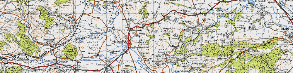 Old map of Whitton in 1947