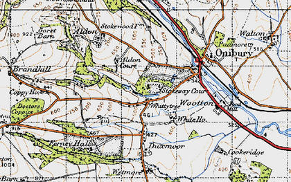 Old map of Whittytree in 1947