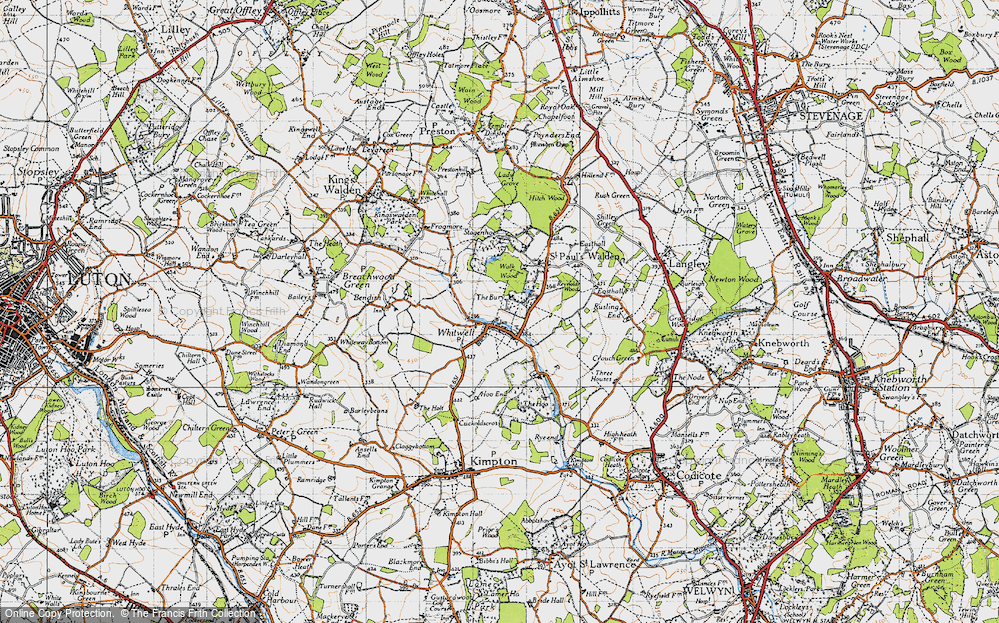 Old Map of Whitwell, 1946 in 1946