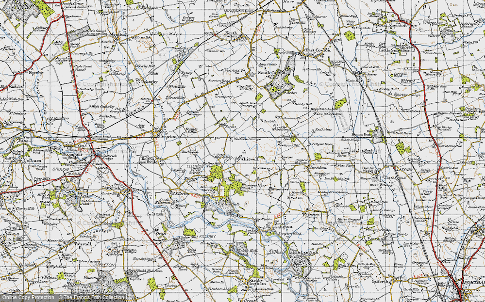 Old Map of Whitwell, 1947 in 1947