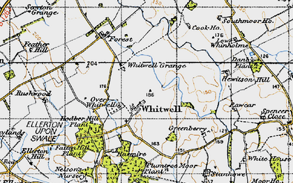 Old map of Whitwell in 1947