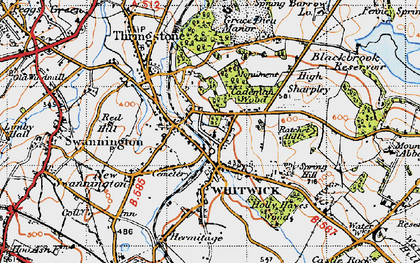 Old map of Whitwick in 1946