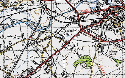 Old map of Whitwood in 1947