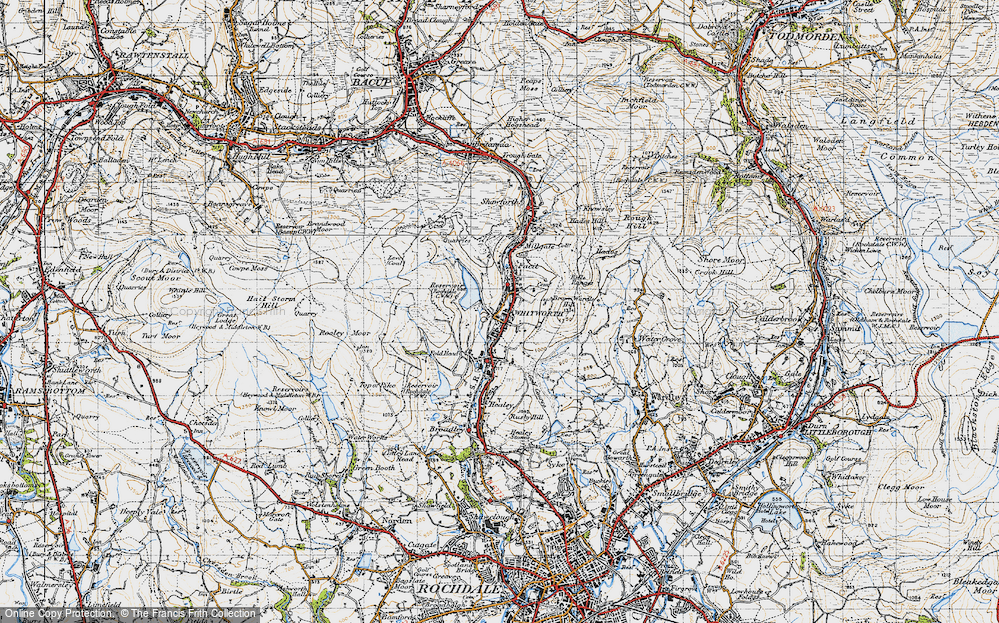 Old Map of Whitworth, 1947 in 1947