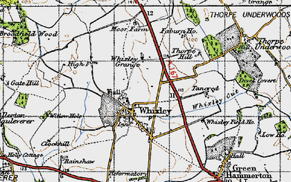 Old map of Whixley in 1947