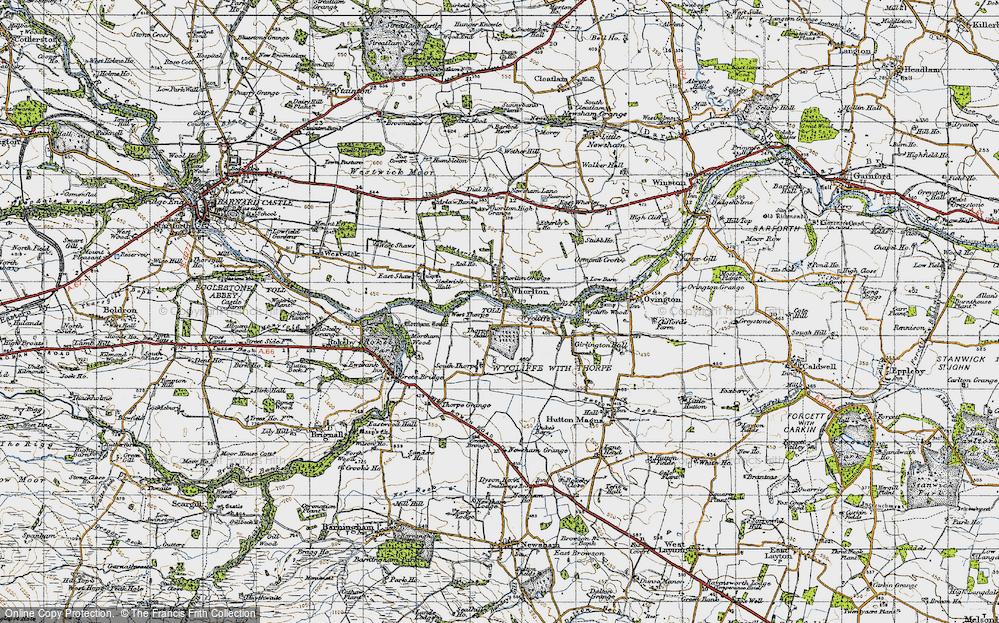 Old Map of Whorlton, 1947 in 1947
