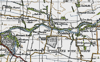 Old map of Whorlton High Grange in 1947