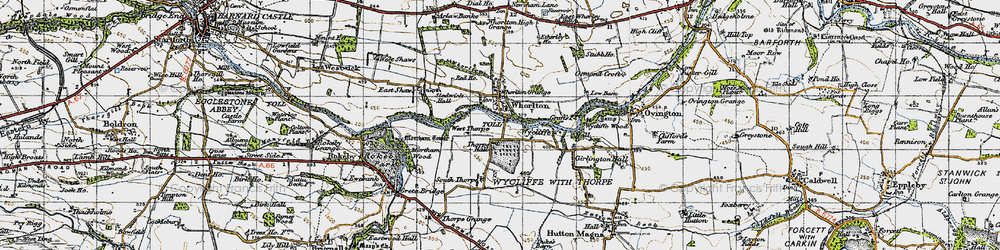 Old map of West Thorpe in 1947