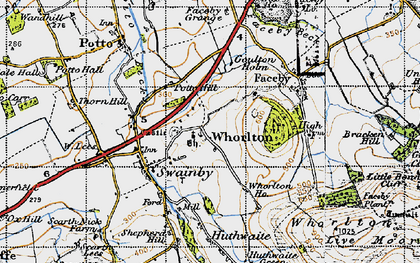 Old map of Whorl Hill in 1947