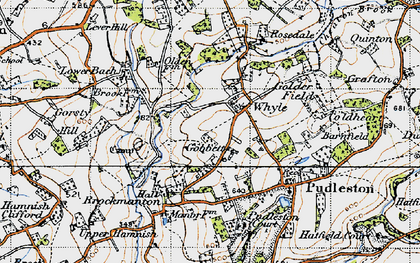Old map of Whyle in 1947
