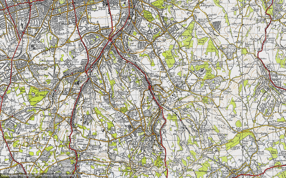 Old Map of Whyteleafe, 1946 in 1946