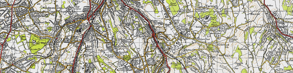 Old map of Whyteleafe South Sta in 1946