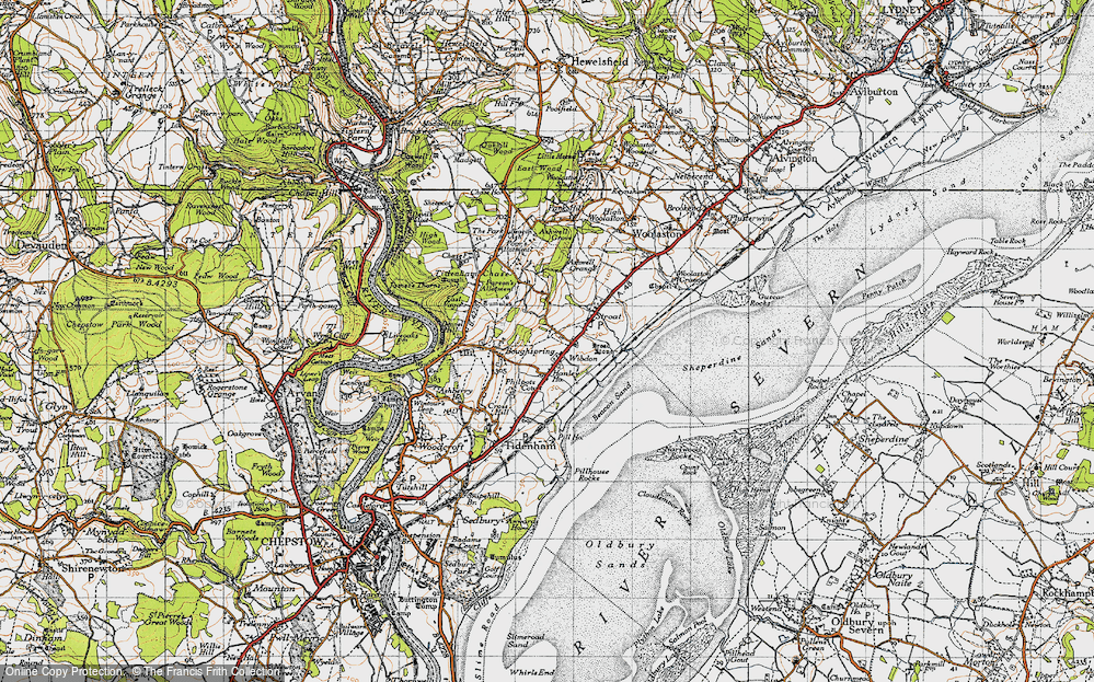 Old Map of Wibdon, 1946 in 1946