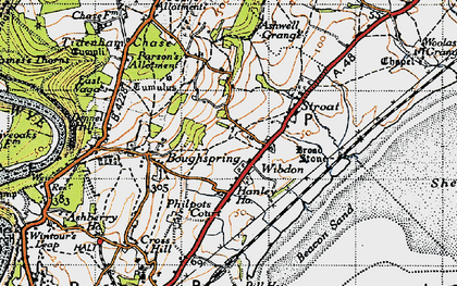 Old map of Wibdon in 1946