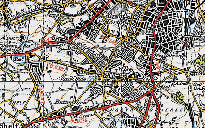 Old map of Wibsey in 1947