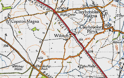 Old map of Wibtoft in 1946