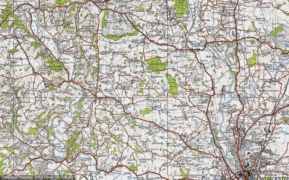 Old Map of Wichenford, 1947 in 1947