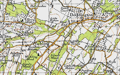 Old map of Wichling in 1946