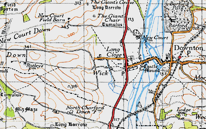 Old map of Wick in 1940