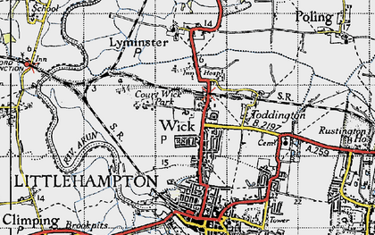 Old map of Wick in 1945