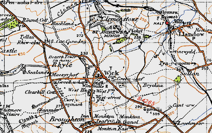 Old map of Wick in 1947