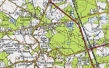 Old map of Wick Hill in 1940