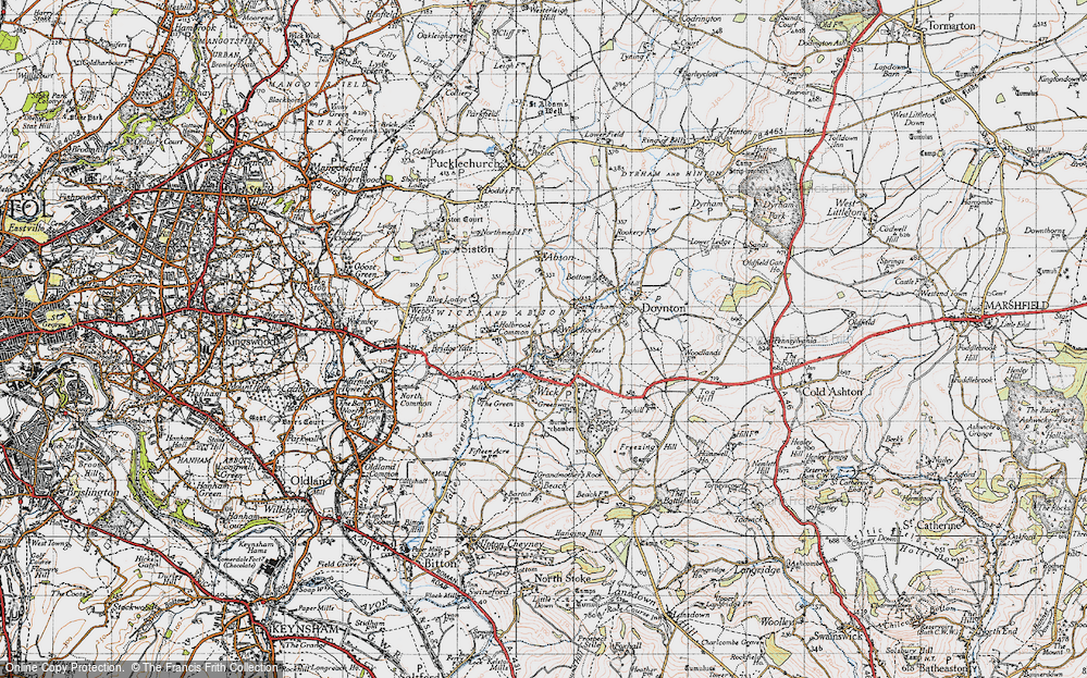 Old Map of Wick Rocks, 1946 in 1946