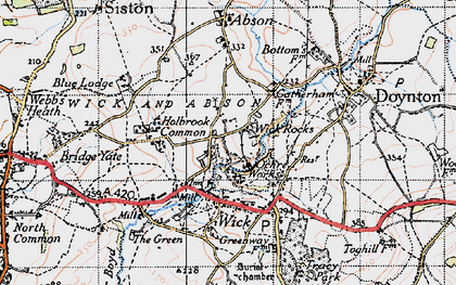 Old map of Wick Rocks in 1946