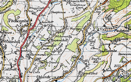 Old map of Wickridge Hill in 1946