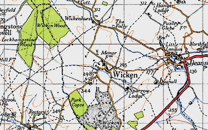 Old map of Wicken Park in 1946