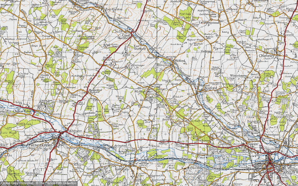 Old Map of Wickham Green, 1945 in 1945