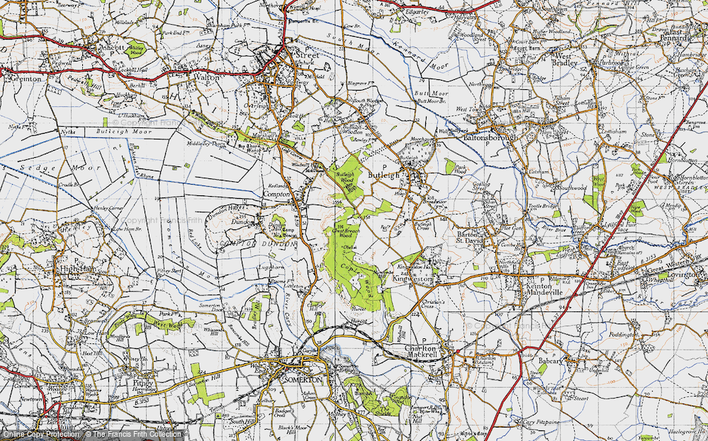 Old Map of Wickham's Cross, 1945 in 1945