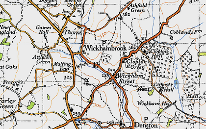Old map of Wickham Street in 1946