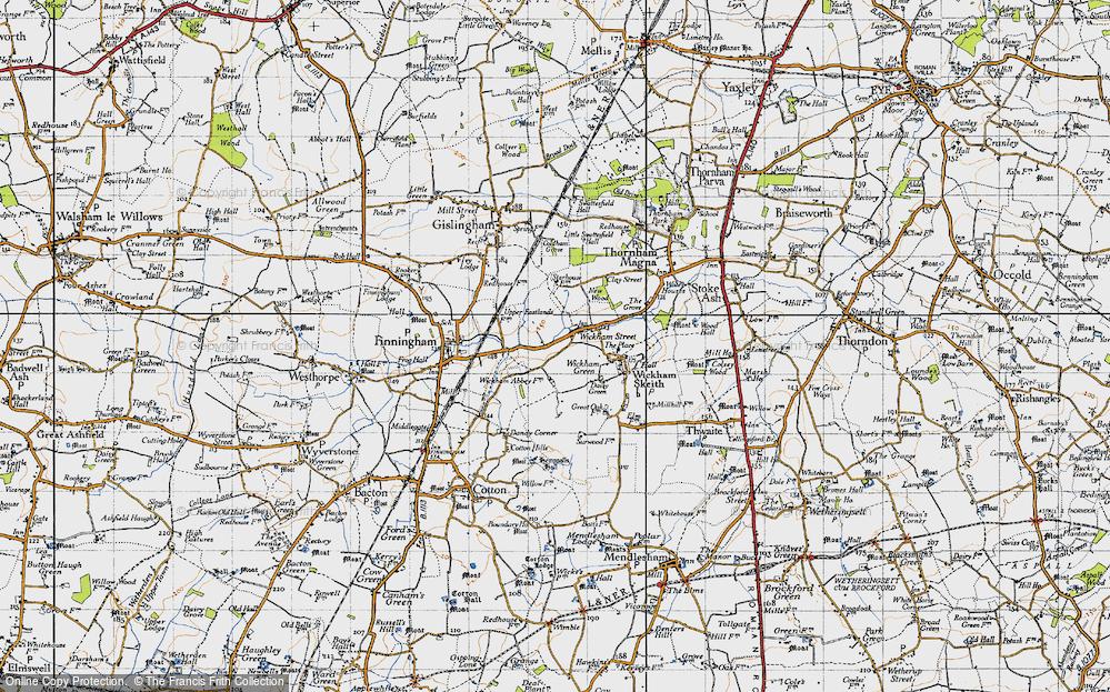 Old Map of Wickham Street, 1946 in 1946