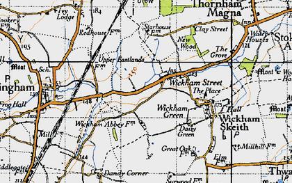 Old map of Wickham Street in 1946