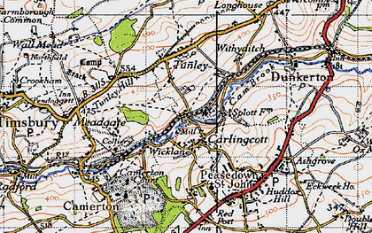 Old map of Wicklane in 1946