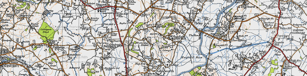 Old map of Wickridge Street in 1947