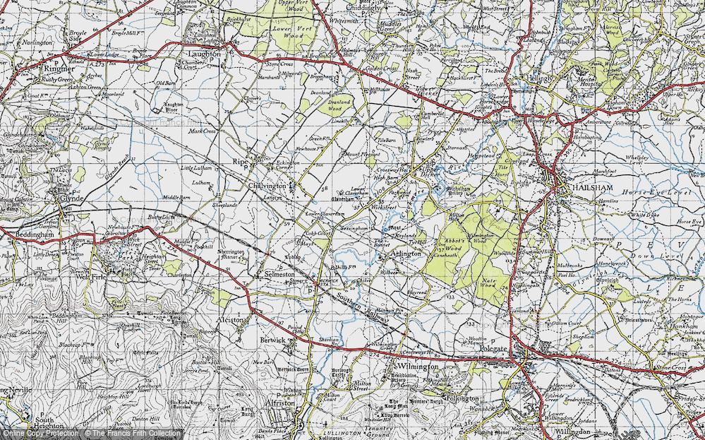 Old Map of Wickstreet, 1940 in 1940