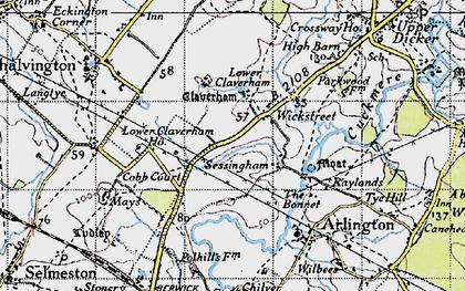 Old map of Wickstreet in 1940
