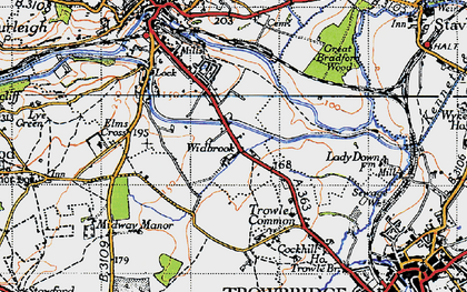 Old map of Widbrook in 1946